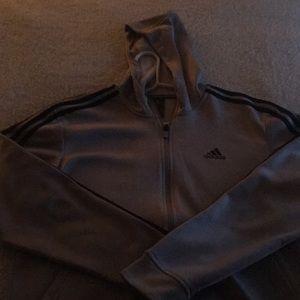 Men's Meduim Adidas Zip-up Sweatshirt.